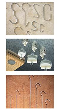 Beispiele Magnete und Haken